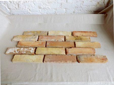 Antikriemchen Verblendsteine Klinkerriemchen Ziegelwand original Mauerziegel Steinwand mediterran Landhaus Loft Fliesen