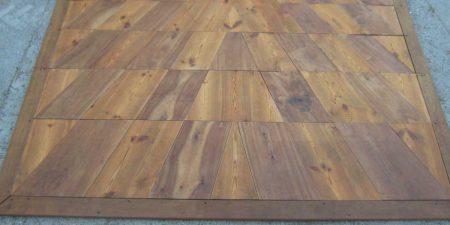 Barocker Boden Nußbaum Kiefernholz Bodenplatten Rautenförmig