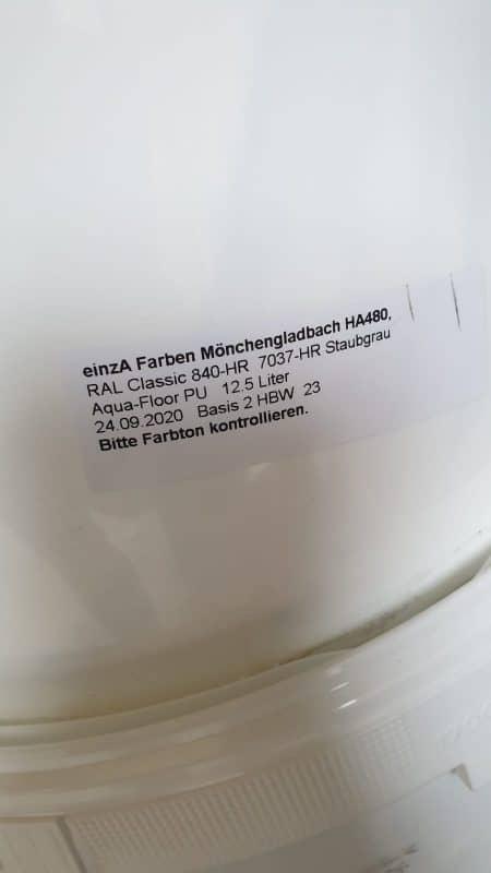 Einza Aqua Floor PU Staubgrau