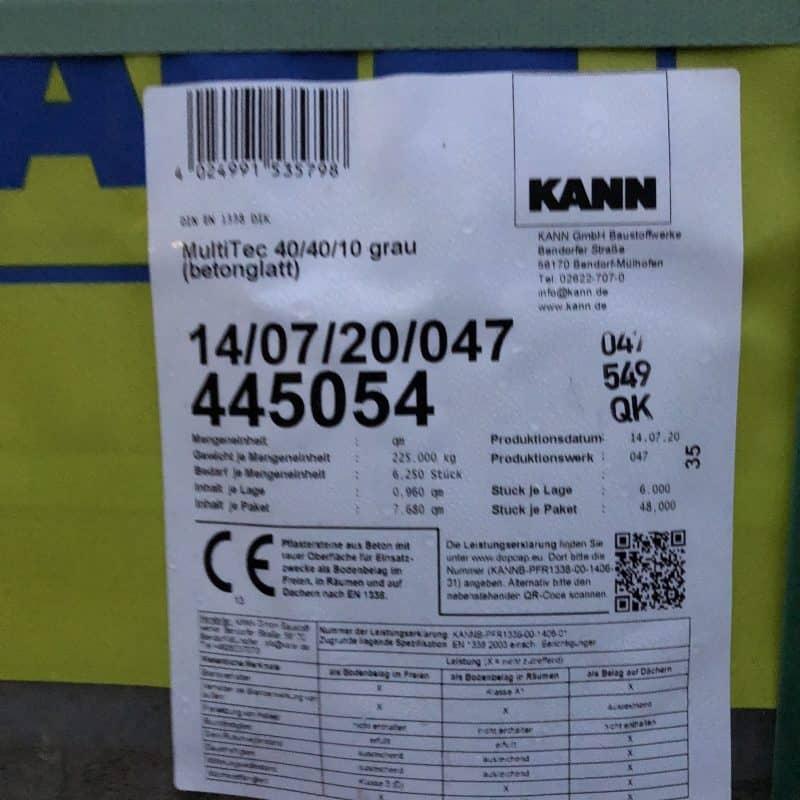 KANN MultiTec Pflaster 60/40/10 und 40/40/10 grau