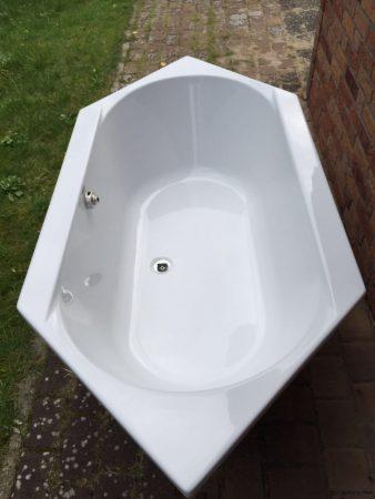 Acryl-Sechseck Einbau Badewanne von Hoesch Serie Mediano