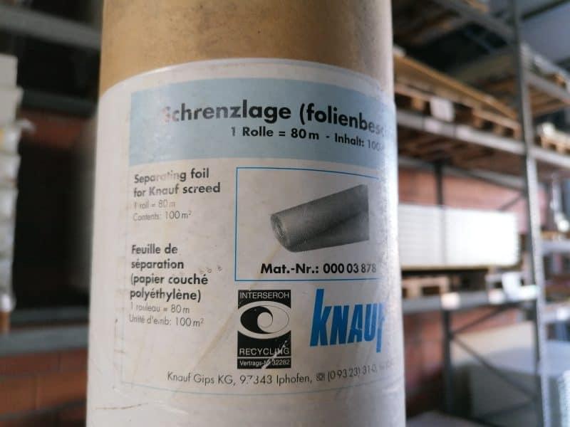 Knauf Schrenzlage (Rieselschutz – folienbeschichtet) 1,25×80 cm 100 m²