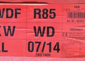 Roto Dachfenster WDF R85 KWD 07/14 blue, weiß 74x140 cm