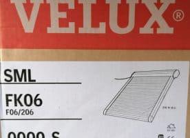 Velux Rollladen Elektro SML FK06 0000S, dunkelgrau, Alu 66x118cm