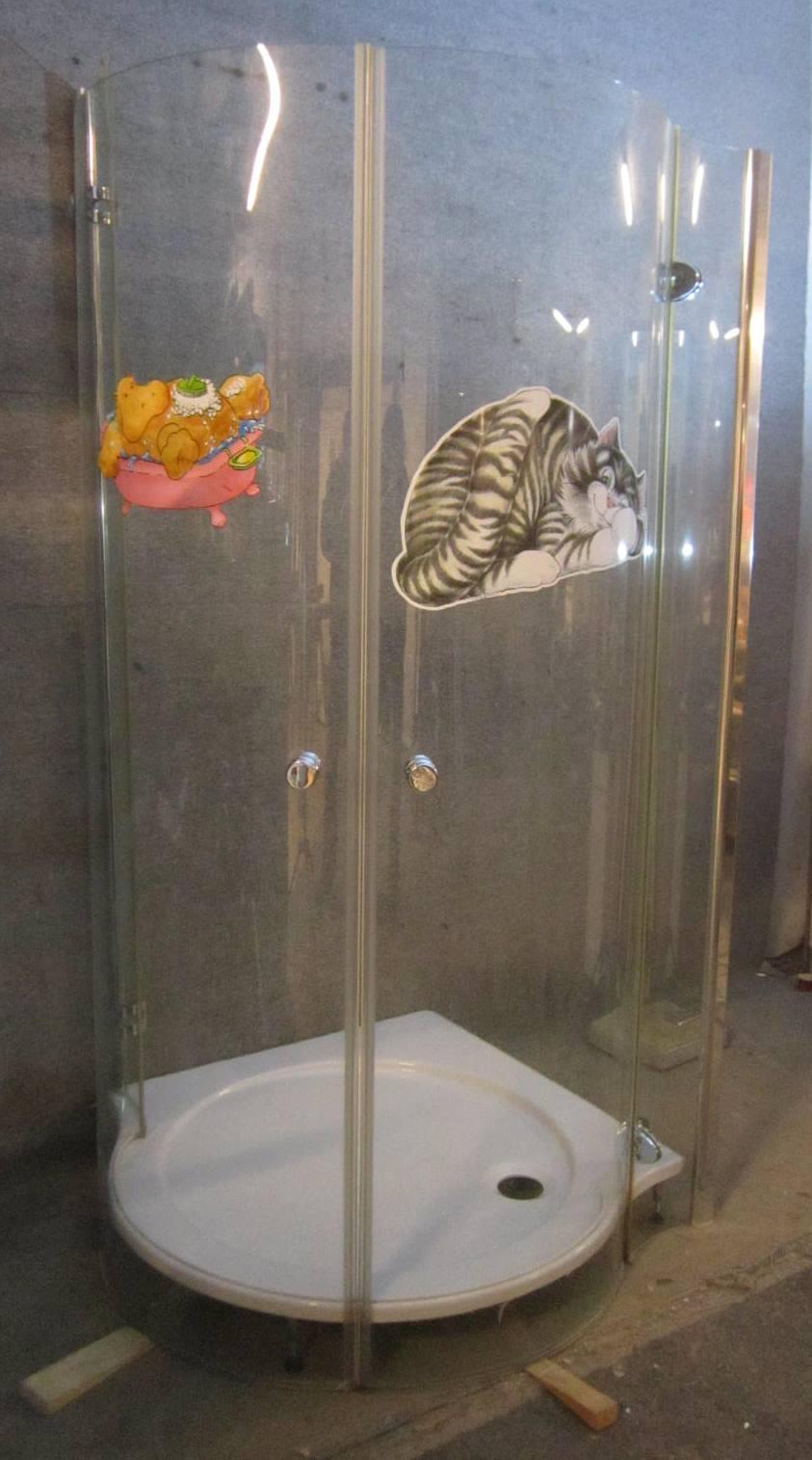 Dusche mit Abtrennung