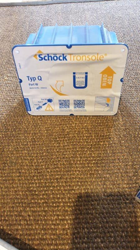 Schöck Tronsole Q-FV NEU Trittschalldämmelement – mit Original Rechnung