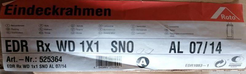 Roto Eindeckrahmen RxWD 07/14 Schiefer SNO
