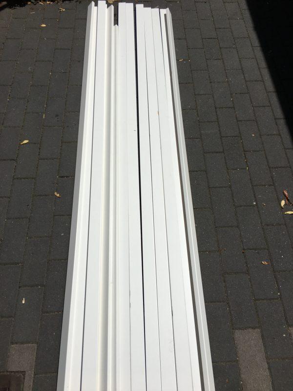 Sockelleisten Massivholz weiß