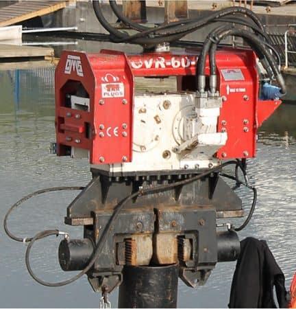Used vibro hammer OVR 60S excavator mounted