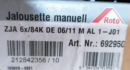 Roto Jalousette manuell ZJA R6/R8 06/11, weiß