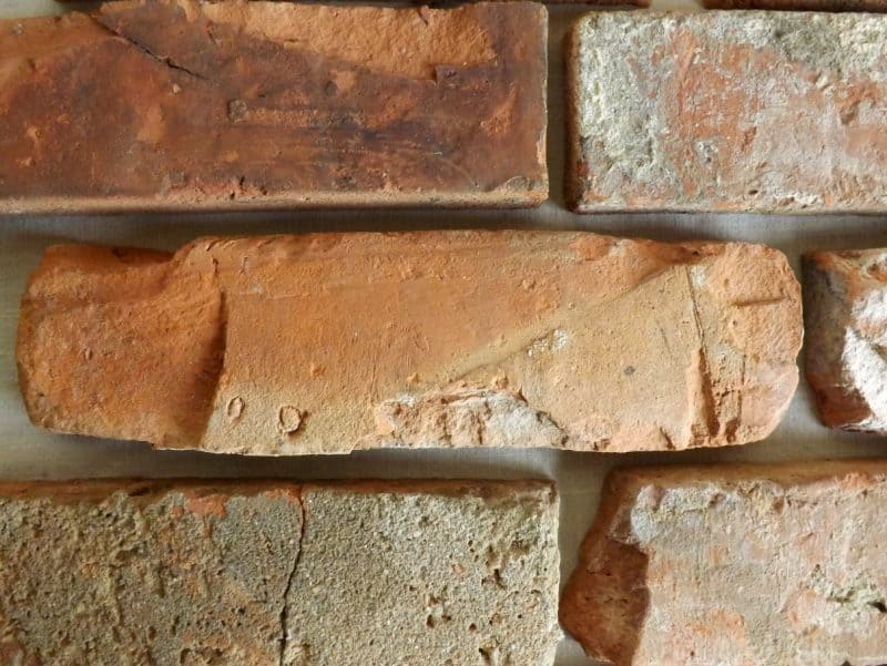 Winterspecial rustikale Antikriemchen rote Klinkerriemchen alte Ziegelwand Verblender used Look Loftoptik Steinwand Wandverkleidung Wandpaneele Fliesen