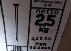 Drahtstifte 2,5 x 50 mm 2,5 kg/Pak.