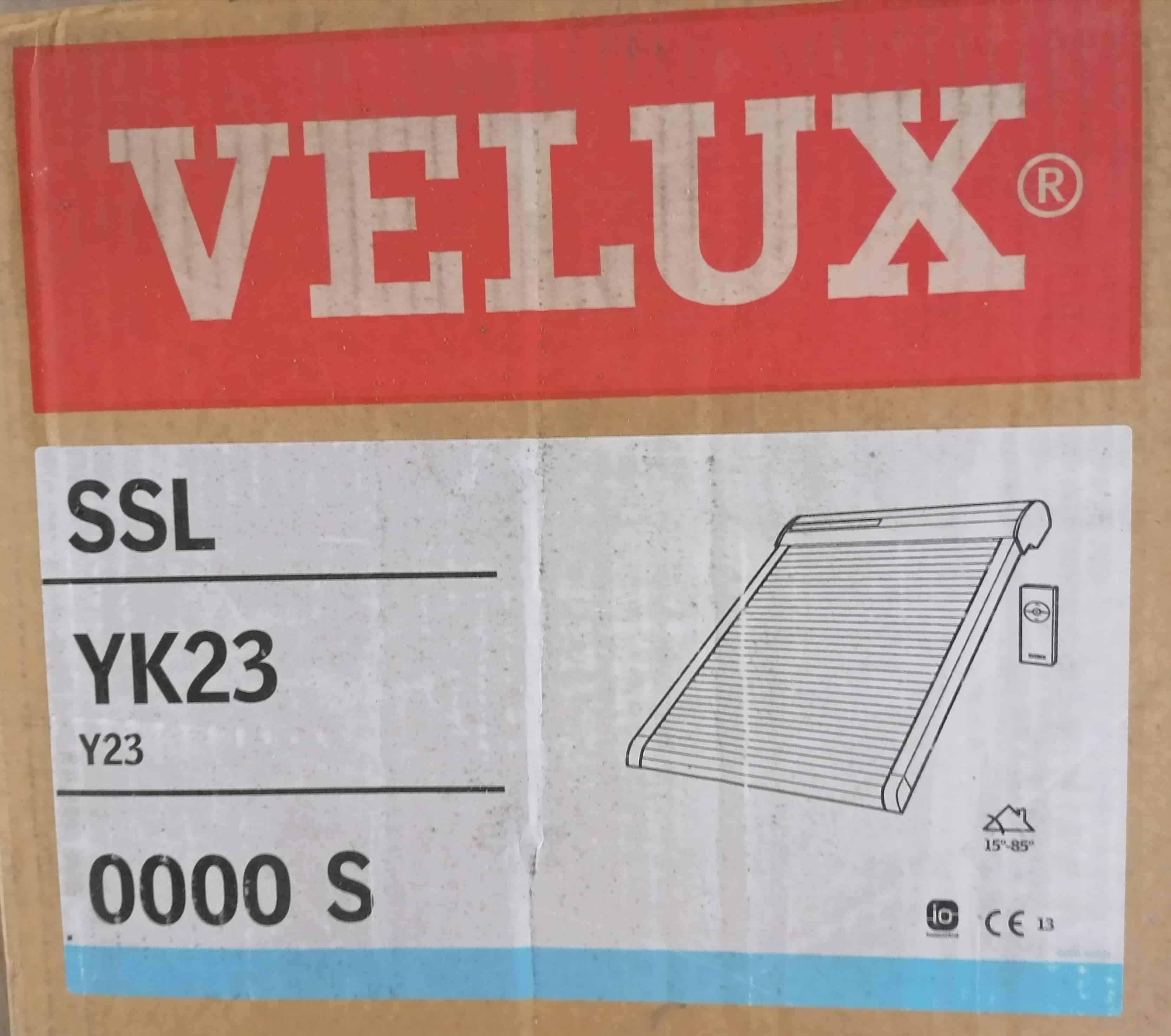 Velux SSL YK23 0000S Rollladen Solar, dunkelgrau, Alu 55 x 104cm