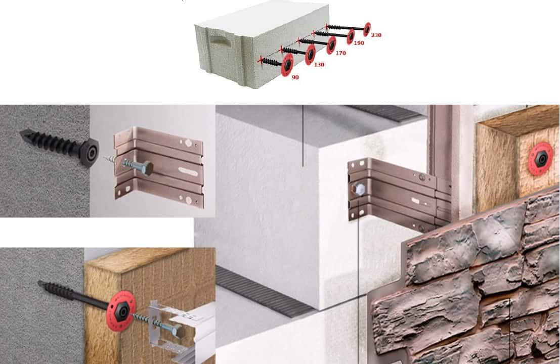 Dübel / Anker 12 x 90 mm für Porenbeton Gasbeton Ytong hochporöse Baustoffe