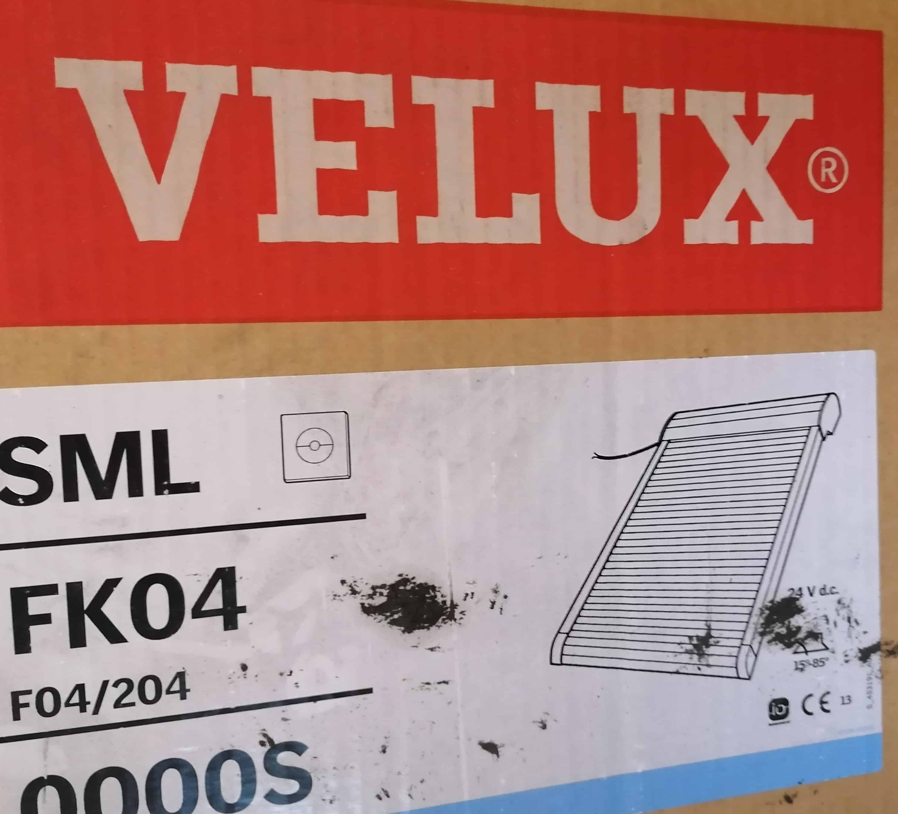 Velux SML FK04 0000S Rollladen Elektro, dunkelgrau, ALU 66 x 98cm