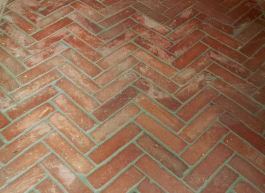 Antik Riemchen Bodenfliesen Terracotta Ziegelboden Küchen Boden alte Mauersteine Landhaus shabby chic
