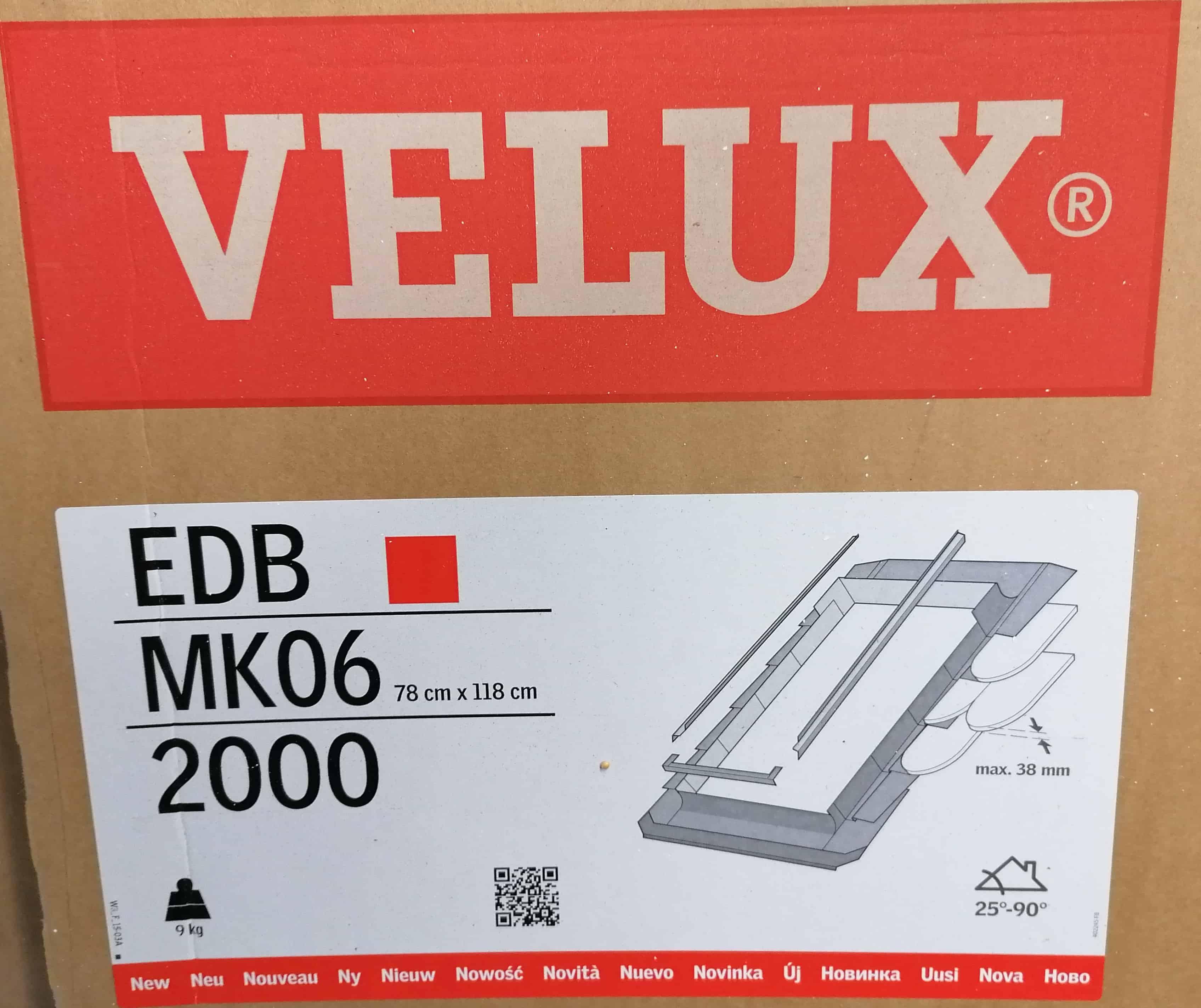 Velux EDB MK06 2000 Eindeckrahmen Biber, inkl. BDX, ALU 78 x 118cm