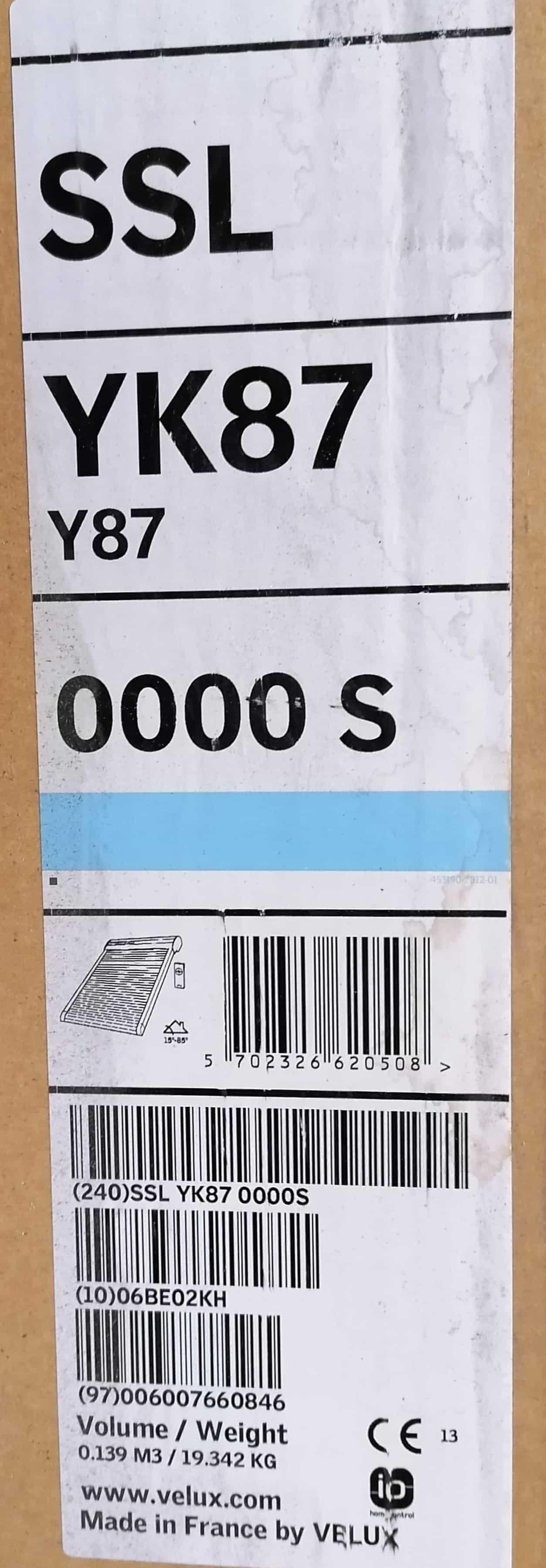 Velux SSL YK87 0000S Rollladen Solar, dunkelgrau, Alu 113 x 144cm