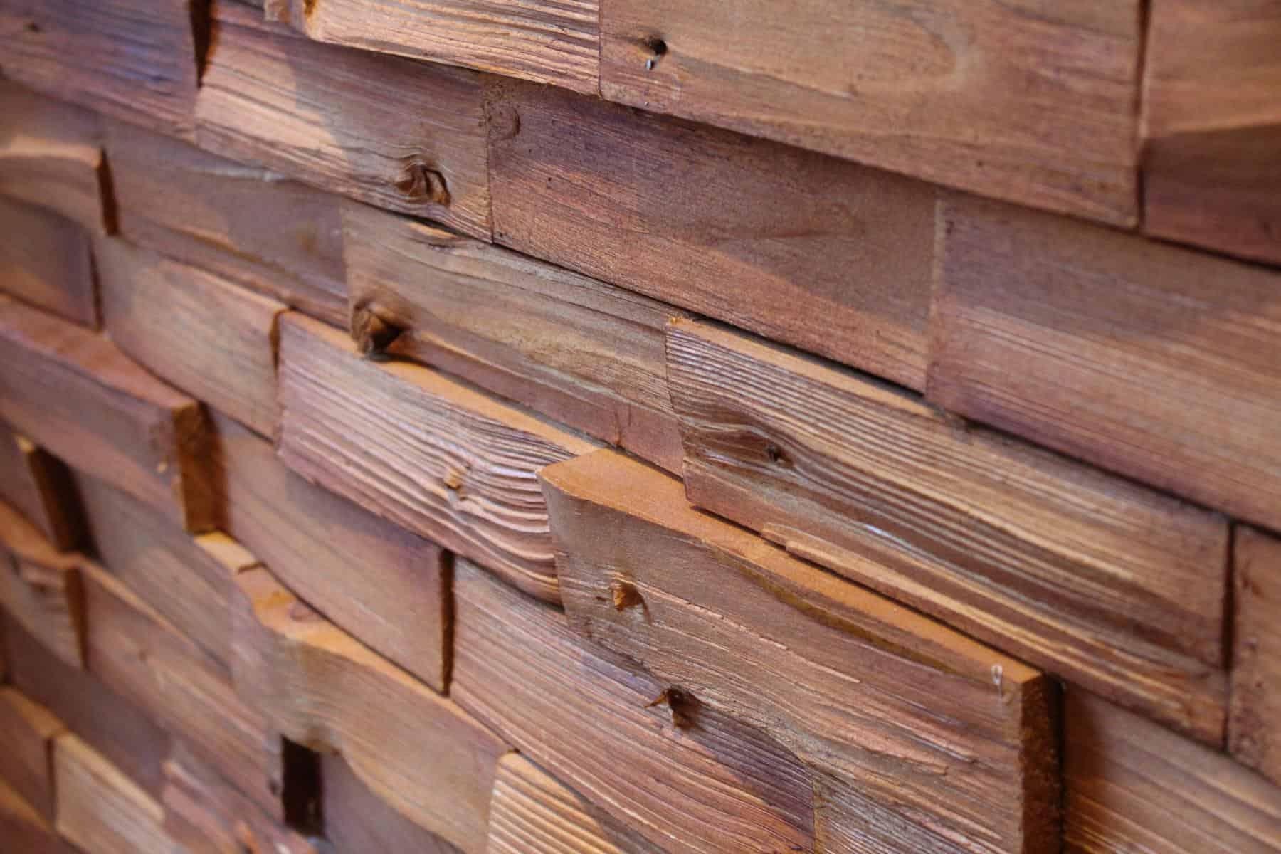 3D Wandverkleidung Holzverblender Spaltholz Wandverblender Spaltholzklinker