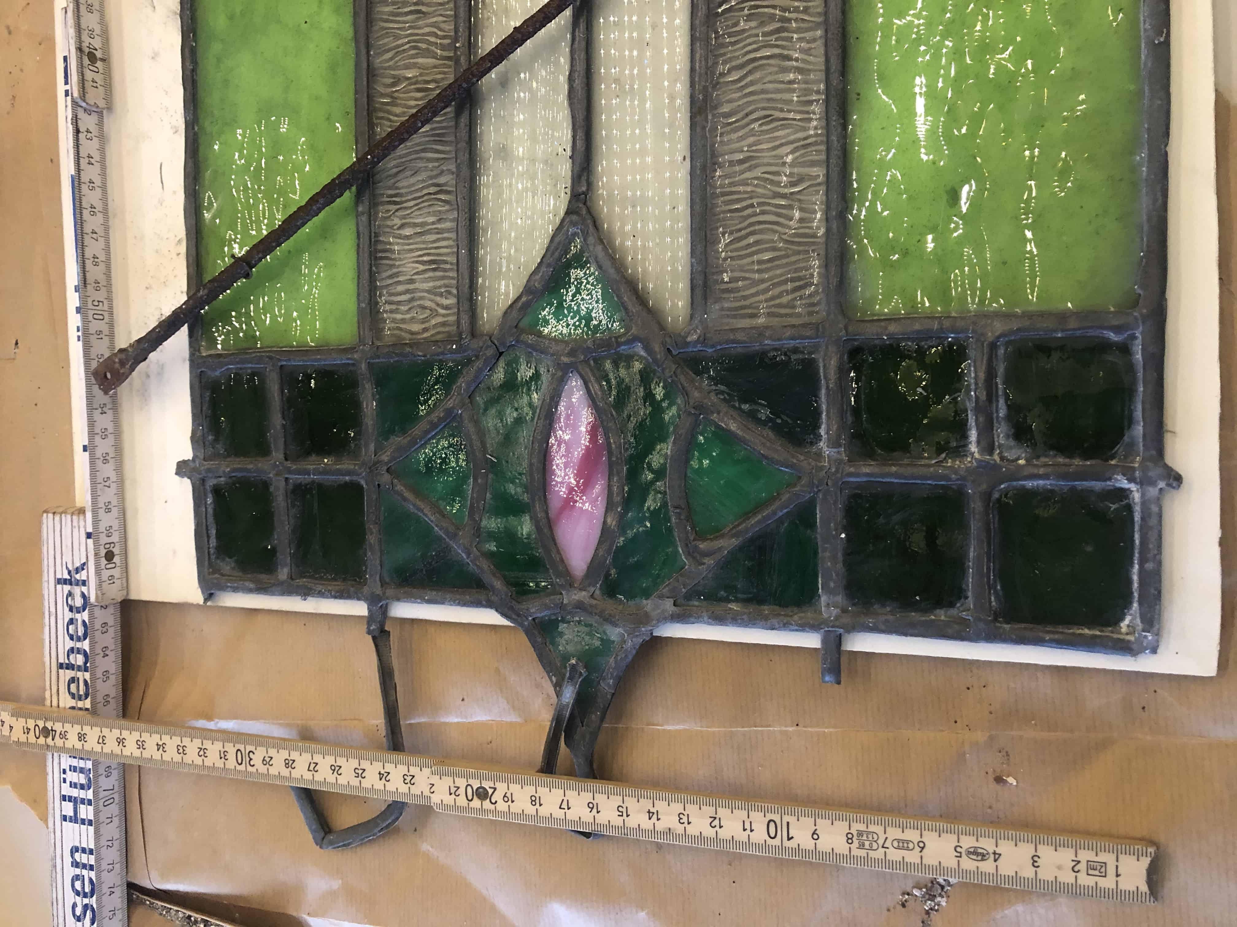 Bleiglasfenster antik ca 1900
