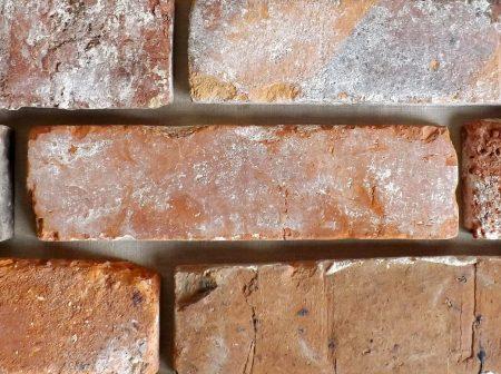 Rote Ziegelverblender Retro Wand alte Ziegel Verblendsteine Kamin Verkleidung echte Backsteine Ziegelsteine Klinker Riemchen Backsteinwände Fliesen