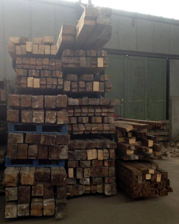 Deckenbalken, Firstfetten, Mittelfetten, Ständerbalken, Ständerfachwerk- Kiefern Holz