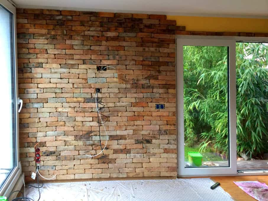 Mediterrane Wandgestaltung Antike Ziegel Riemchen originale Rückbau Back Steine Steinoptik Natur Pro