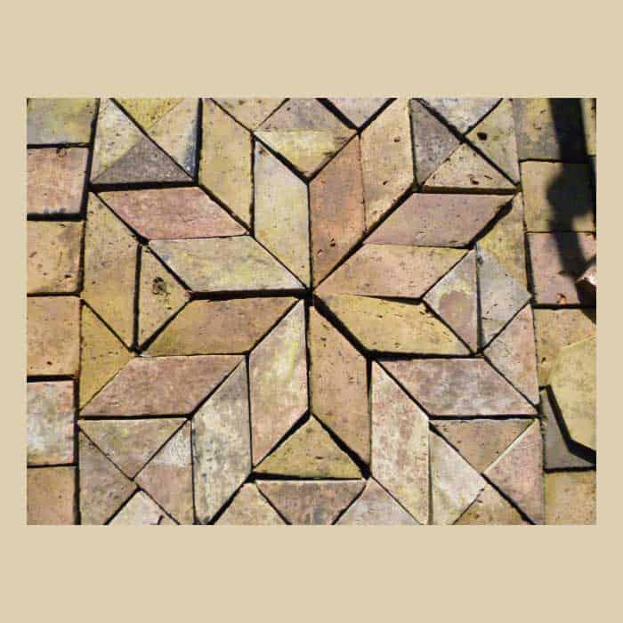 Terrakotta Mosaikboden