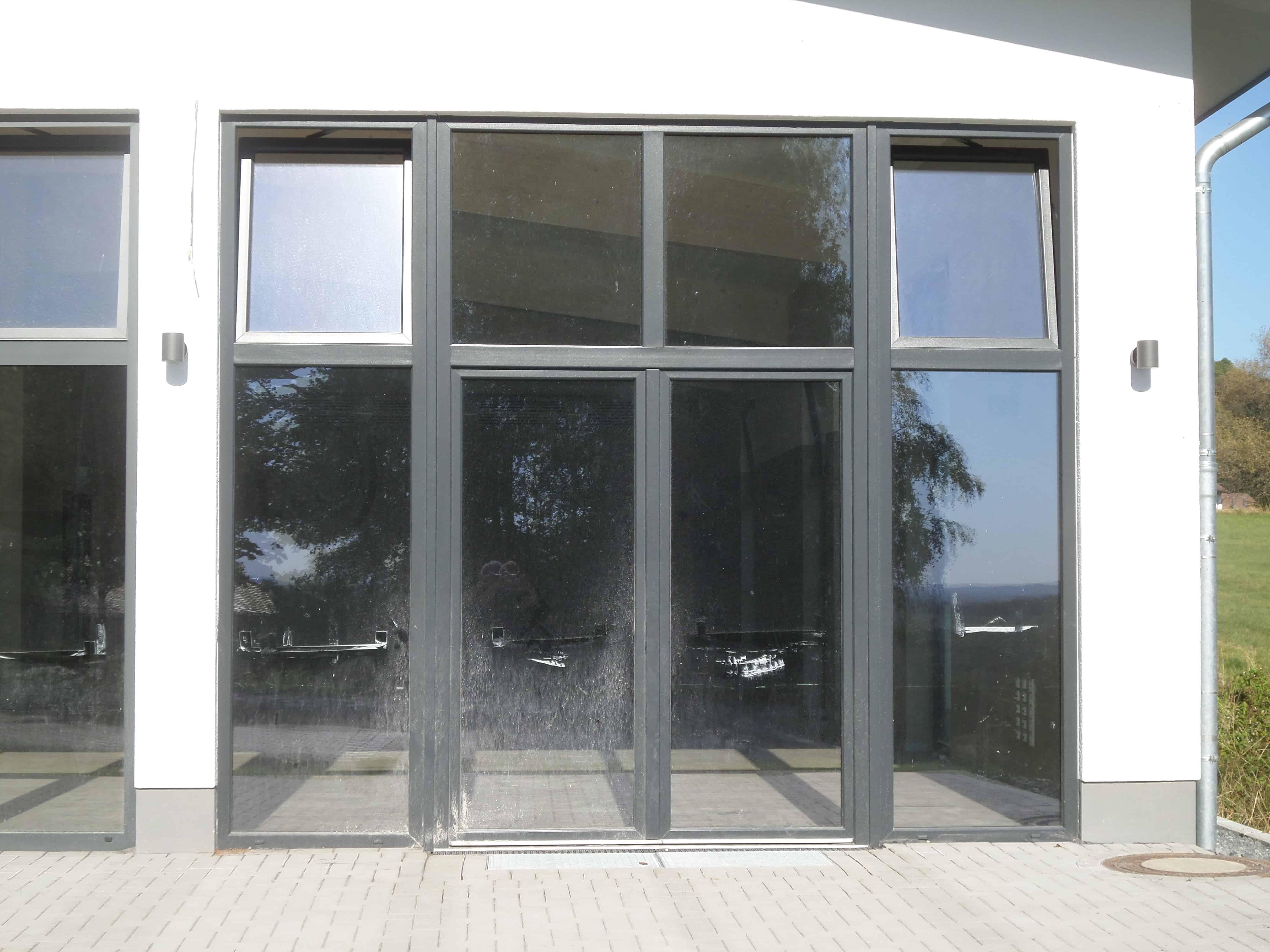 Fenster-Tür-Element, Alu eloxiert, Sonderanfertigung