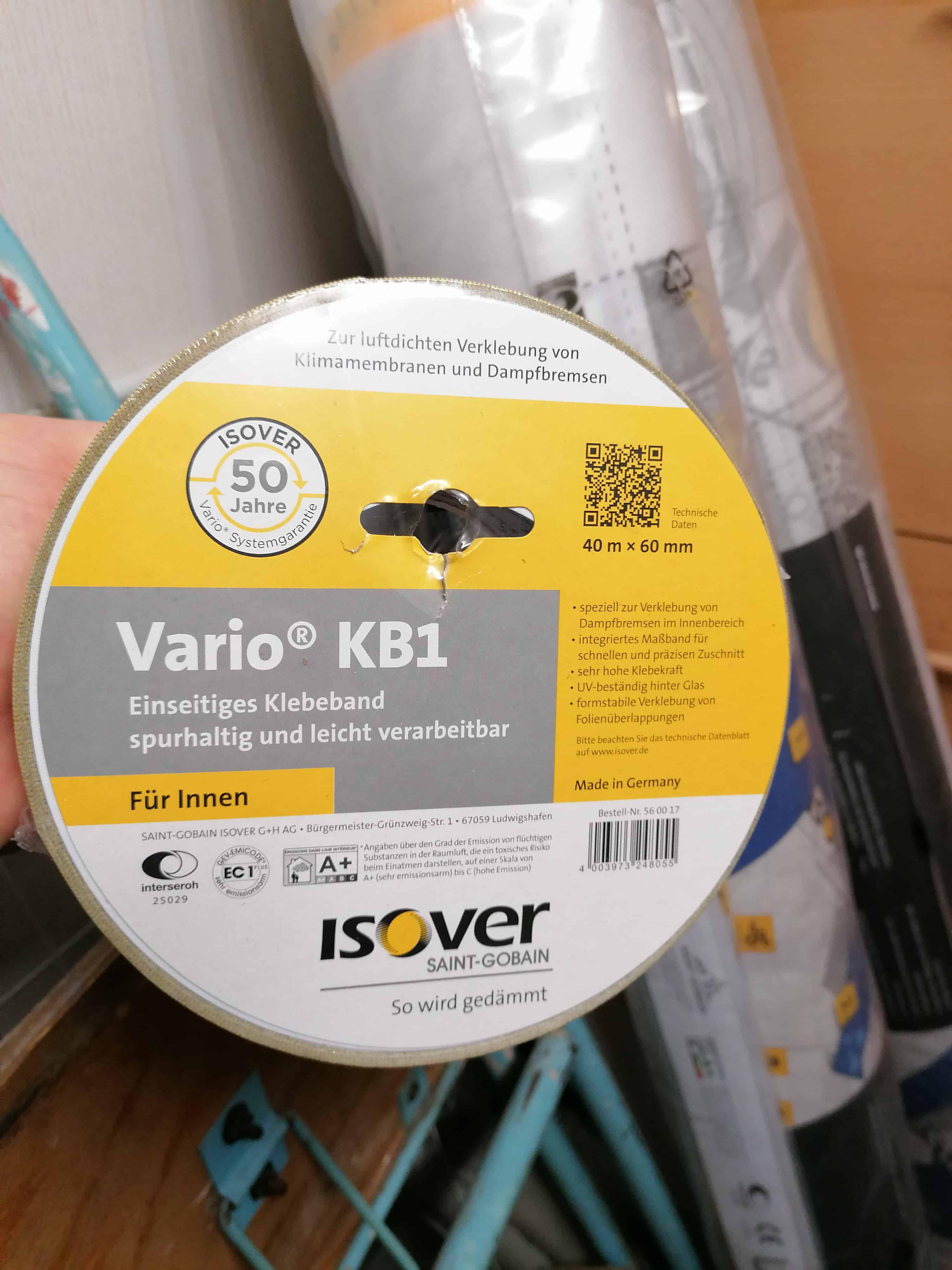 2x Isover Vario KM Duplex UV1.500mm x40.000 insgesamt 60qm