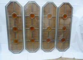 Bleiglasscheiben für Türeinsätze 6 Stück