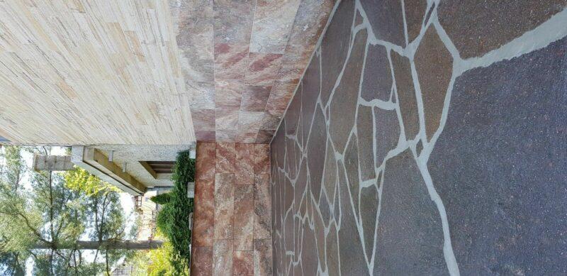 Porphyr- Polygonalplatten, Bruchplatten, Natursteinplatten, 2-5cm