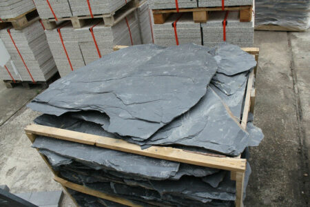 Schieferplatten, Bruchsteinplatten 2-3 cm