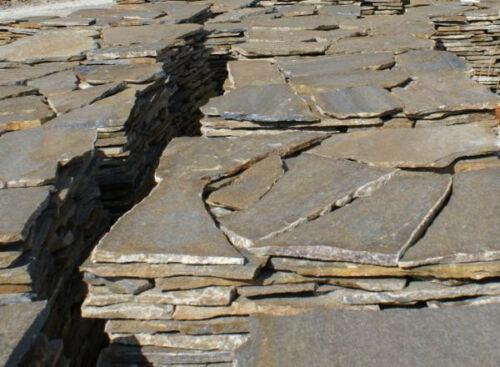 """Quarzit Natursteinplatten """"flussbraun"""" 2-3cm"""