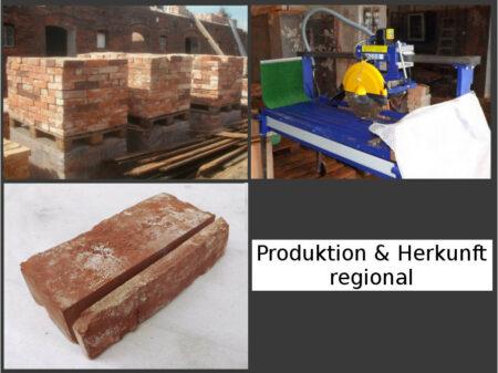 Klassisch rote Antike Riemchen Klinkerriemchen Rückbau Mauerstein rustikale alte Ziegelwand regional