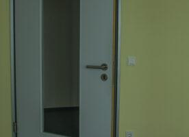 Tür mit Glaseinsatz Maulweite 100mm