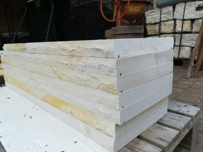 Sandstein Mauerstein und Abdeckplatten