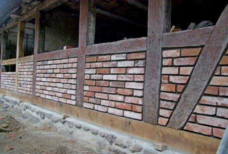 Ziegelstein Backstein Klinker Antike Steine rot
