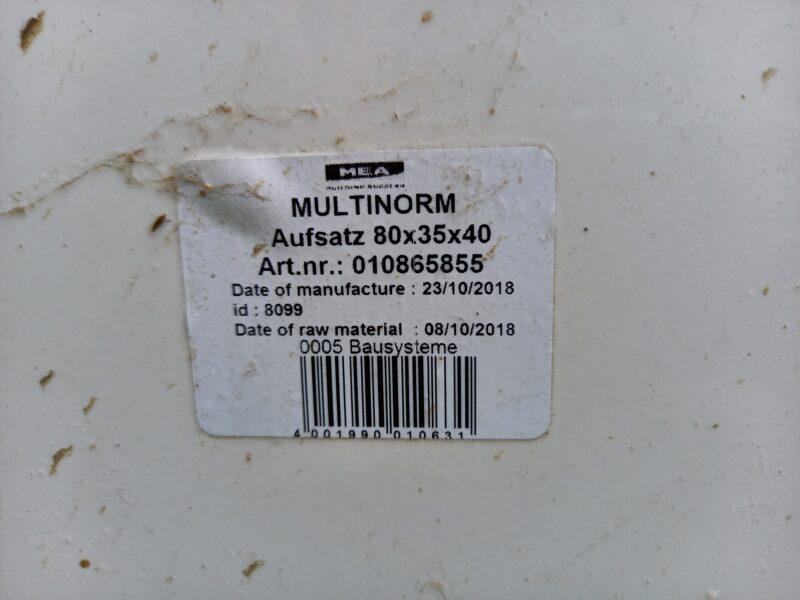 MEA Multinorm Lichtschachtaufsatz 80x35x40 inkl. Befestigung