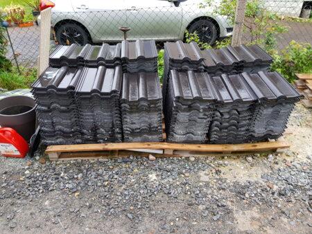 Dachziegel Finkenberger Pfanne rund schwarz Longlife matt