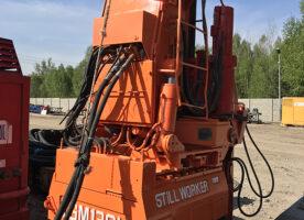 Used pile press TGM130H – steel sheet piles