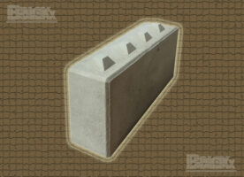 Schwergewichtsblock, (LxBxH): 1.600 x 400 x 800 mm mit Verzahnung, Beton-Systemstein, Beton-Stapelblock