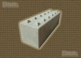 Beton-Legoblock, Beton-Systemstein, (LxBxH): 1.800 x 600 x 600 mm mit Verzahnung, Sortierbox, Halle bauen