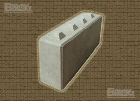 Beton-Systemstein, (LxBxH): 1.600 x 400 x 800 mm mit Verzahnung, Betonblockstein, Lego-Betonstein
