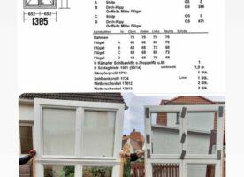Sorpetaler Holzfenster, Altbauprogramm, zweiflügelig mit Oberlicht, weiß