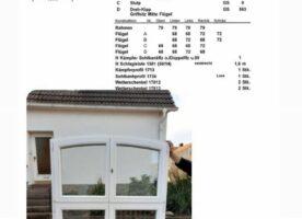 Sorpetaler Holzfenster, Altbauprogramm, zweiflügelig mit Oberlicht und Rundbogen, weiß