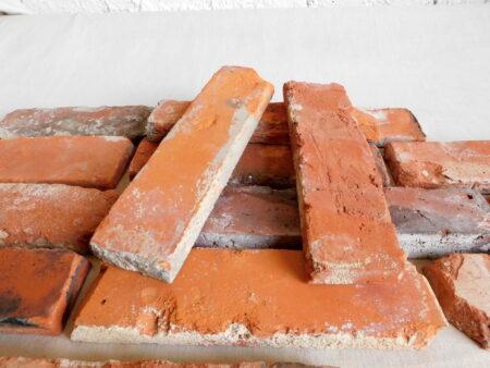 Retro Wand alte Ziegel Antik Riemchen Verbender Kamin Verkleidung Spaltriemchen echte Backsteine