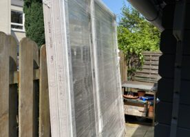 Terrassentür/Balkontürelement mit Seitenteil 2450mm x 2260mm x 70mm