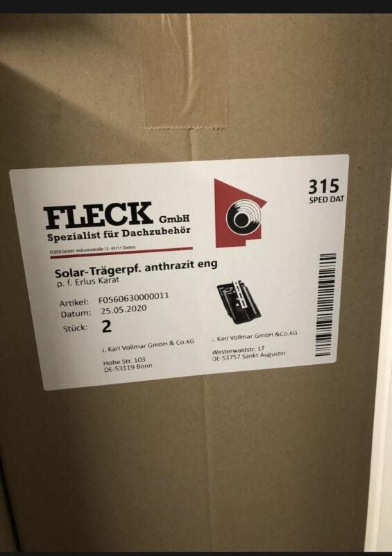 Solar-Trägerpfanne, Erlus Karat, Anthrazit Eng, 11×2
