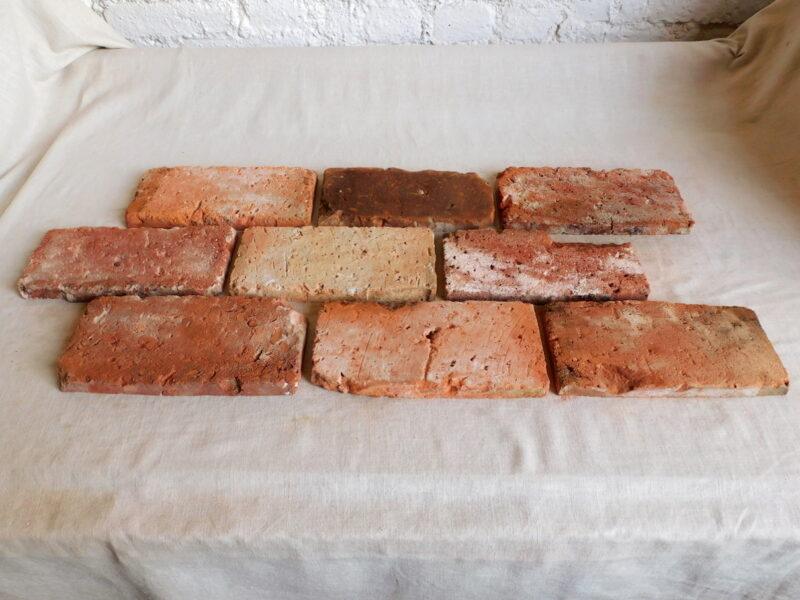 22,5 m² Boden Platten Boden Ziegel Bodenfliesen Backstein alte Mauersteine Fliese rustikal Landhaus
